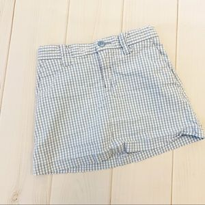 Gap Light Blue Gingham Skirt